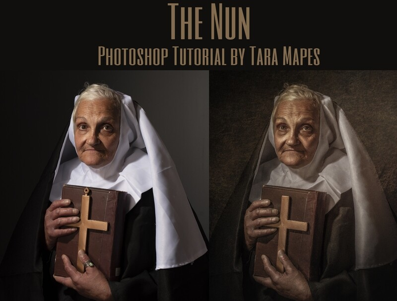 The Nun Painterly Fine Art Photoshop Tutorial by Tara Mapes
