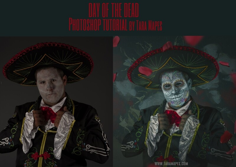 Day of the Dead Painterly Fine Art Photoshop Tutorial by Tara Mapes
