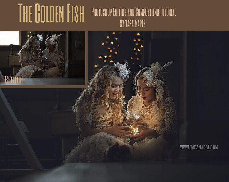 The Golden Fish Painterly Fine Art Photoshop Tutorial and Compositing Tutorial by Tara Mapes