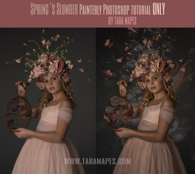 Spring Slumber Painterly Photoshop Tutorial ONLY- Fine Art Tutorial by Tara Mapes