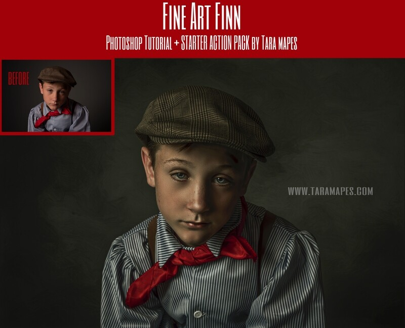 Fine Art Finn Fine Art Painterly Photoshop Tutorial with STARTER PACK- Fine Art Tutorial by Tara Mapes
