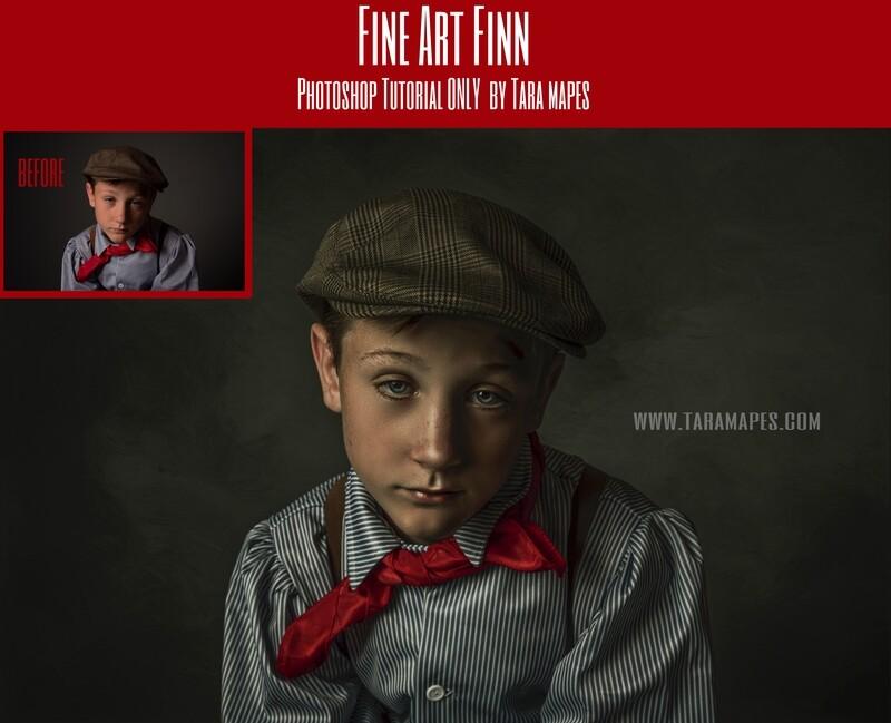Fine Art Finn Fine Art Painterly Photoshop Tutorial ONLY- Fine Art Tutorial by Tara Mapes