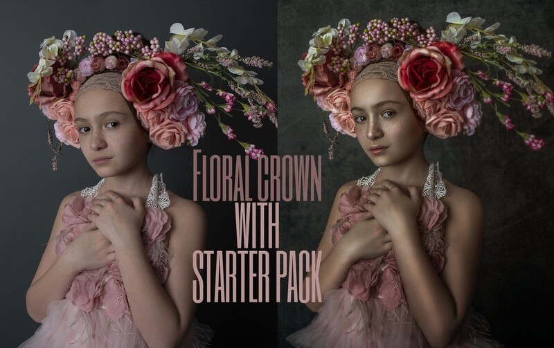 Floral Crown Art Painterly Photoshop Tutorial with STARTER PACK- Fine Art Tutorial by Tara Mapes