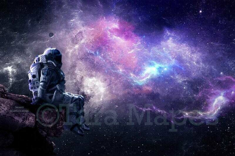 Astronaut - Universe Galaxy Space Digital Background Backdrop
