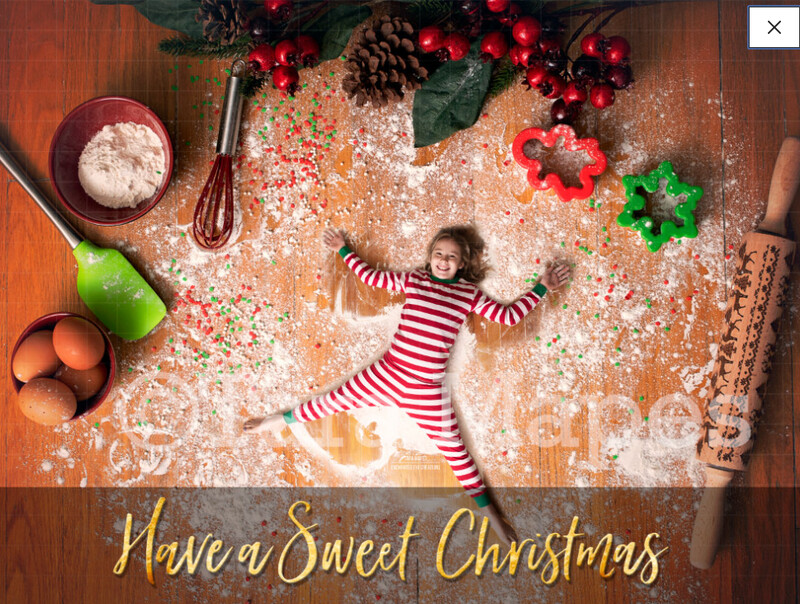 Flour Angels - Christmas Cookie Cutting Board LAYERED PSD Free tutorial link below - Cookie Cutter Kids - Christmas Digital Background