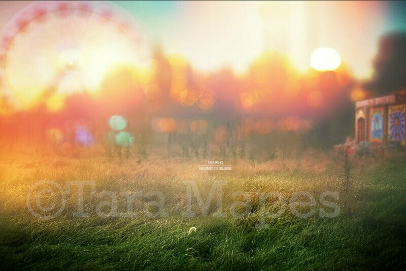 Circus Grounds - Fairgrounds - Festival - Carnival - Digital Background Backdrop