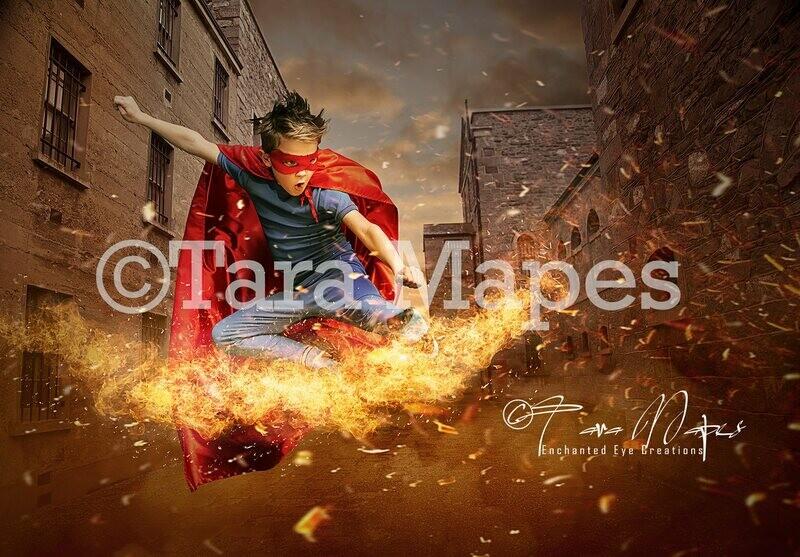 Superhero Digital Background