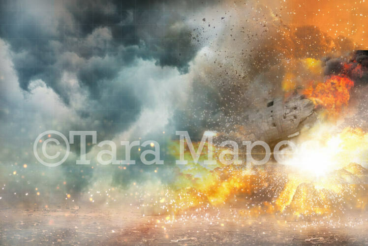 Superhero Explosion Digital Background Backdrop