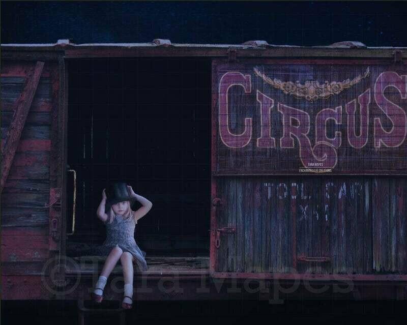 Circus Train Digital Background / Backdrop