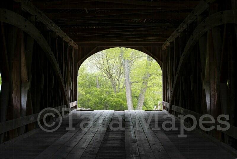 Covered Bridge Nature Digital Background Backdrop