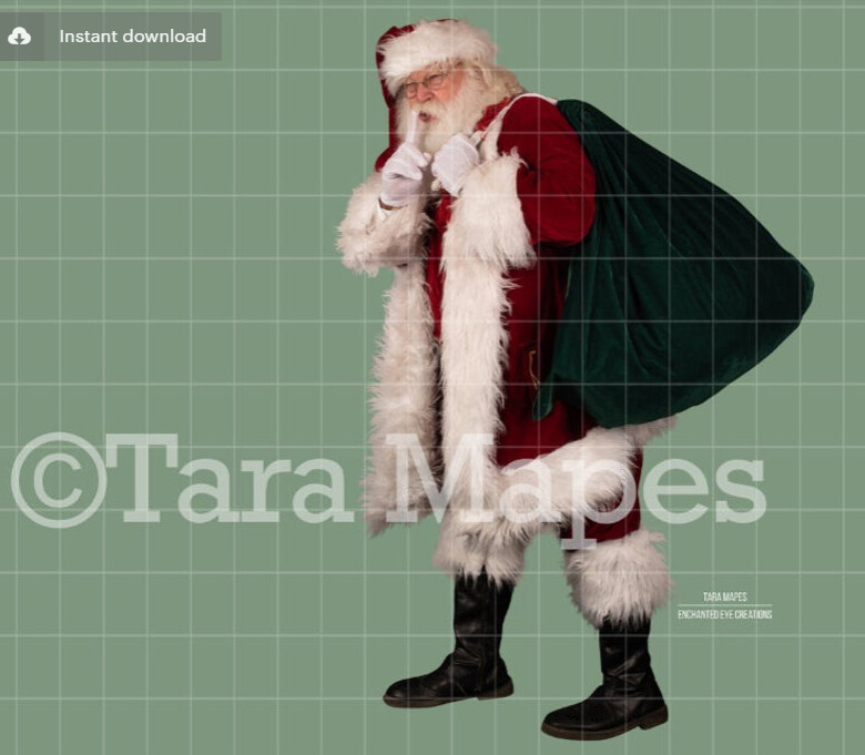 Santa Overlay PNG - Santa Naughty Nice List - Santa Cut Out  - Christmas Overlay - Santa PNG - Christmas Overlay