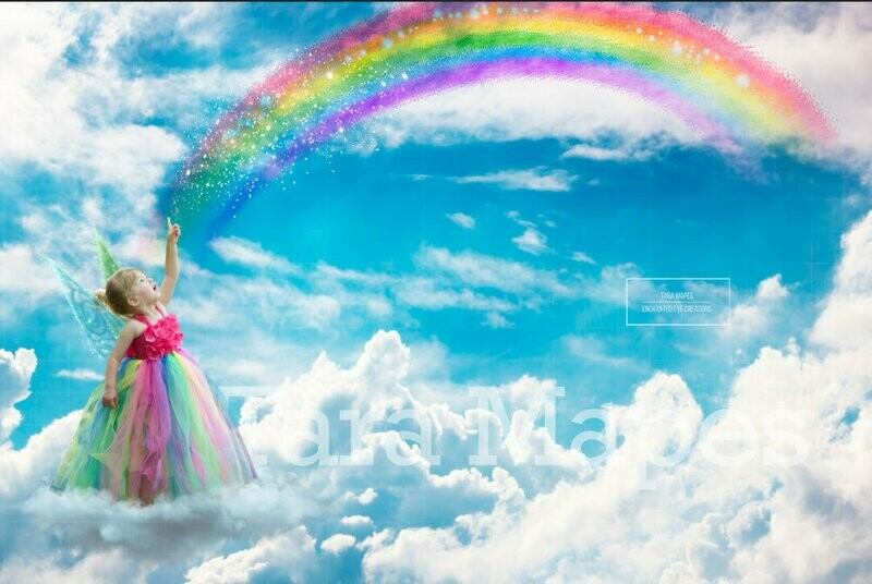 Rainbow Magic Digital Background Backdrop