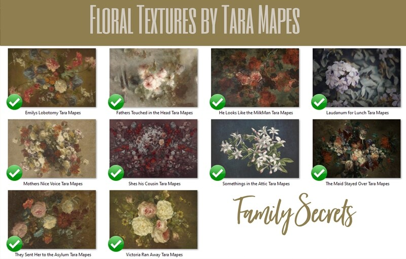 10 Old Masters Floral Textures -Floral Backdrops - Digital Backgrounds - FAMILY SECRETS Photoshop Overlays by Tara Mapes