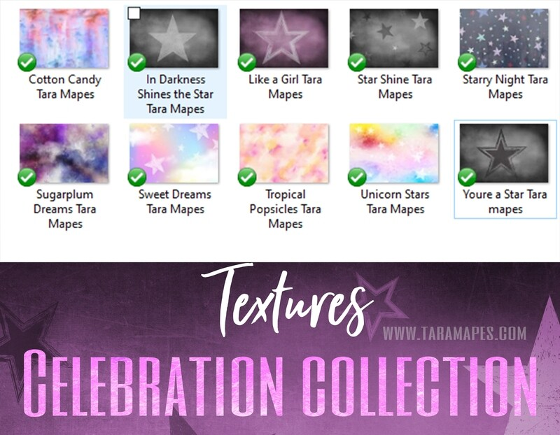 10 Fine Art Textures -  Celebration Collection - Texture Color Overlays -Photoshop Overlays Tara Mapes