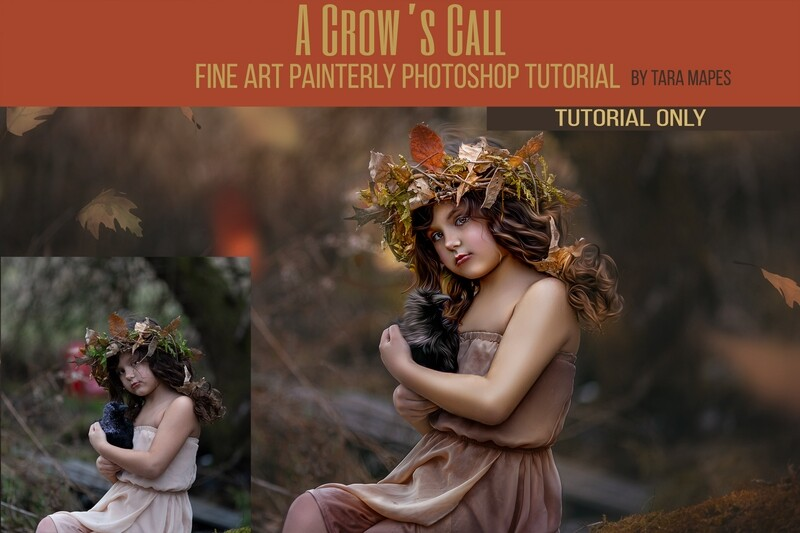 Crow's Call Painterly Fine Art Painterly and Compositing Photoshop Tutorial TUTORIAL ONLY- Fine Art Tutorial by Tara Mapes
