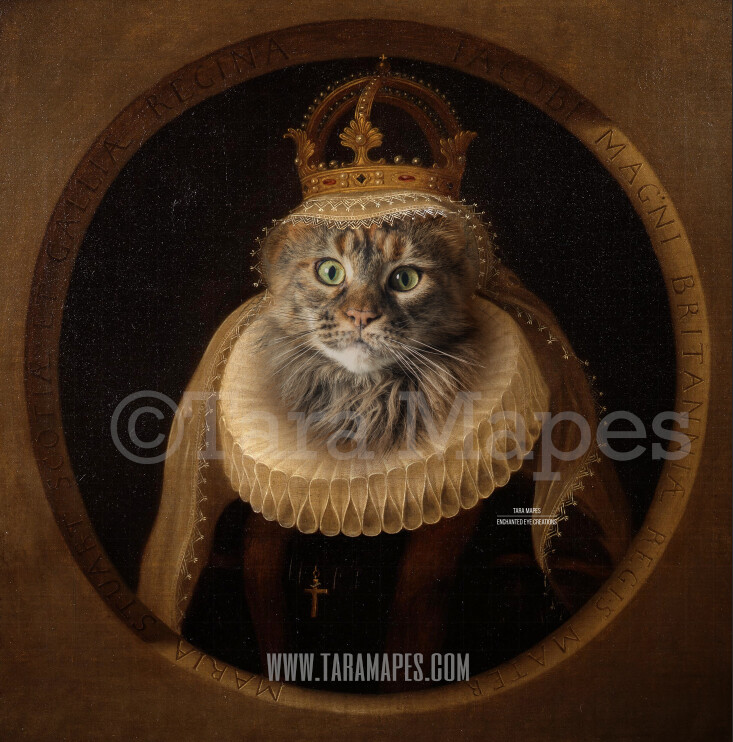 Royal Pet Portrait QUEEN Body PSD Template- Pet Painting Portrait Body 12 - Layered PSD  Digital Background Backdrop