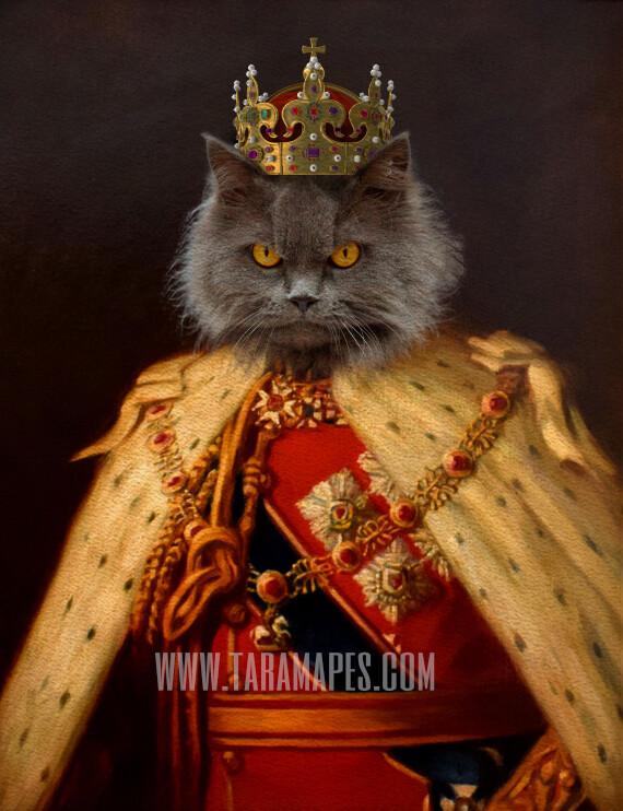 Royal Pet Portrait KING Body PSD Template- Pet Painting Portrait Body 2 - Layered PSD  Digital Background Backdrop