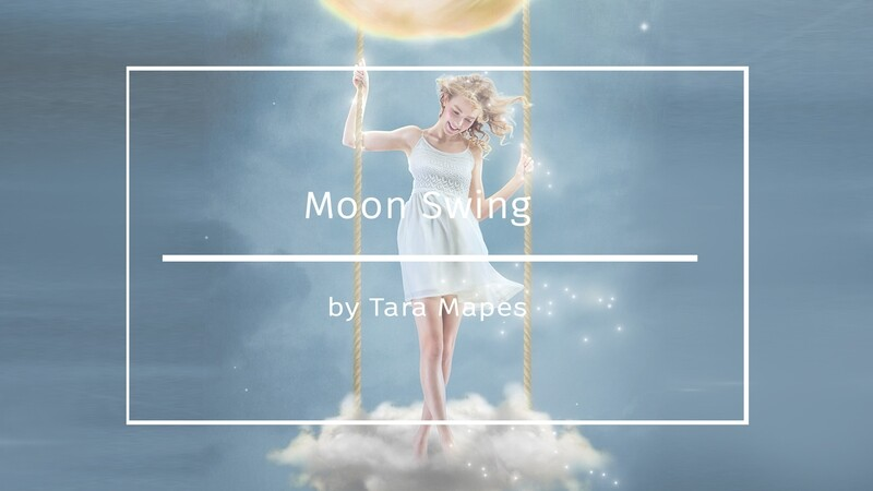 Moon Swing Painterly Editing + Compositing Photoshop Tutorial Background, Star Brushes and Texture Included