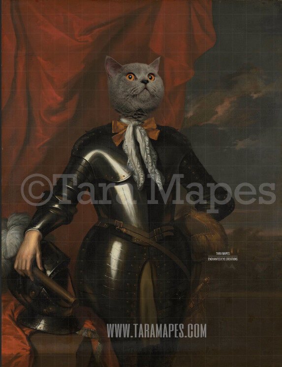 Pet Portrait Body - Layered PSD Template- Pet Painting Portrait Body 77 -  Digital Background Backdrop