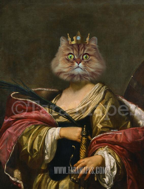 Royal Pet Portrait QUEEN Body PSD Template- Pet Painting Portrait Body 35 - Layered PSD  Digital Background Backdrop