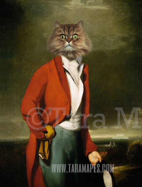 Pet Portrait PSD Template - Pet Painting Portrait Body 90 - Layered PSD  Digital Background Backdrop