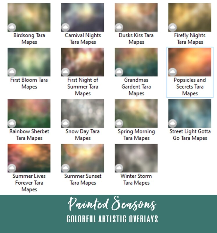 15 Painted Seasons Color Style Overlays - Photoshop Color Films