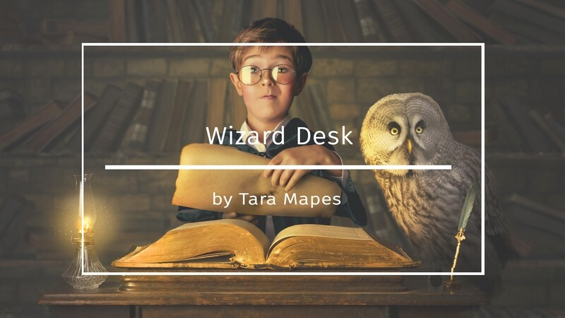 Photoshop Tutorial on How To Extract and Blend Your Subject into Wizard Desk Background in Photoshop by Tara Mapes