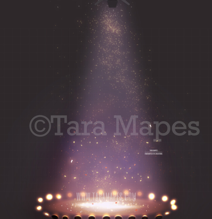 Circus Arena Under Lights Digital Background
