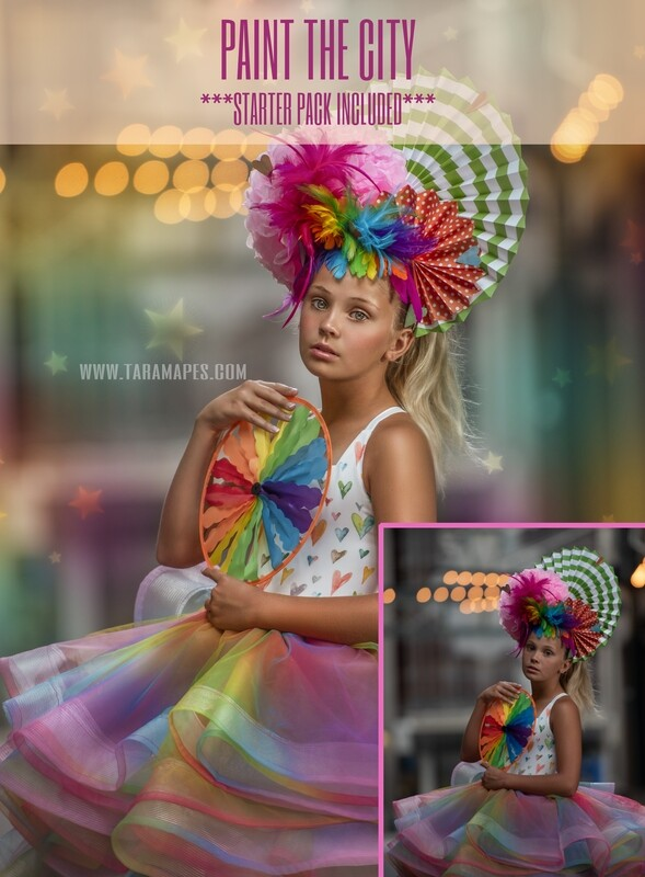 Paint the City Painterly Photoshop Tutorial with STARTER PACK- Fine Art Tutorial by Tara Mapes
