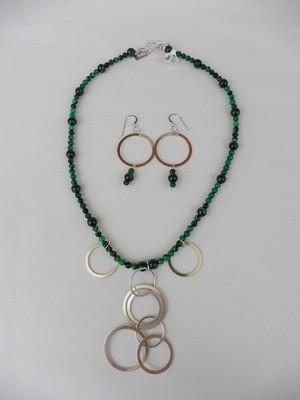 Malachite  Necklace & Earring Set