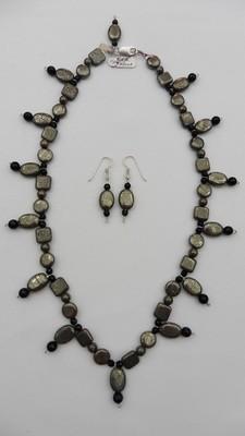 Pyrite & Onyx Necklace Set