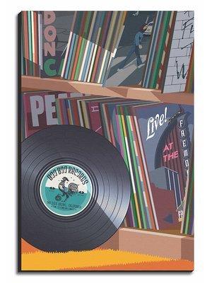 Boo Boo Records Collection Art Print - Medium