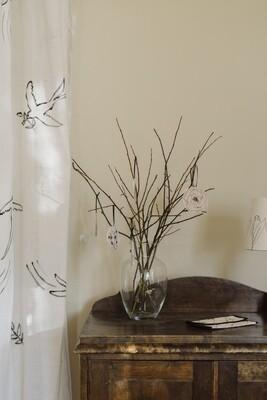 4 Light Linen Ornaments