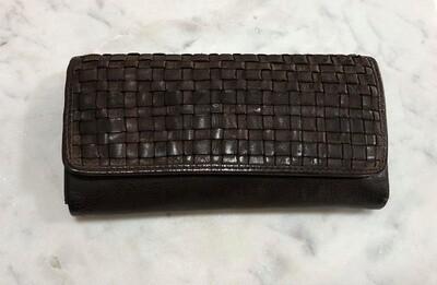 Macy - Woven Wallet Brown
