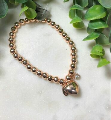 Rose Gold Bracelet with Heart - AB1571G
