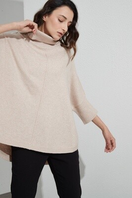 Half Sleeve Cotton Knit Champagne Pink