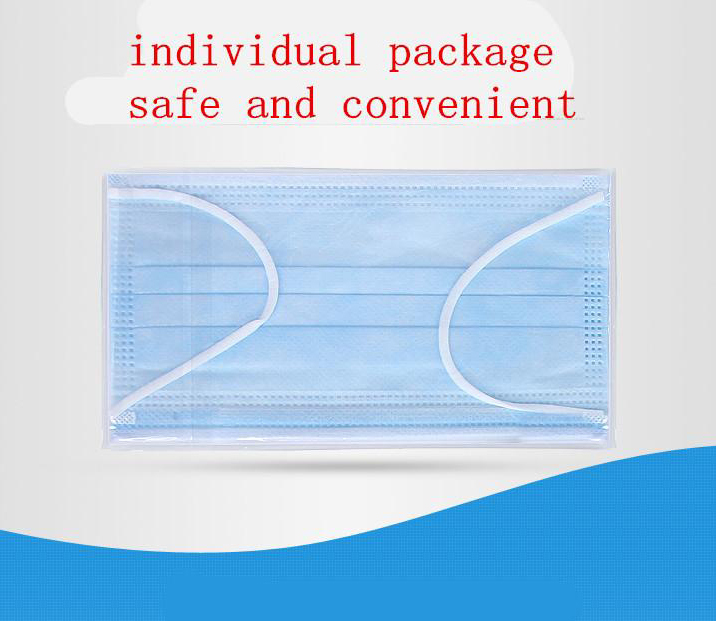 Disposable Face Masks with Three Layer Protection - Pack of 10