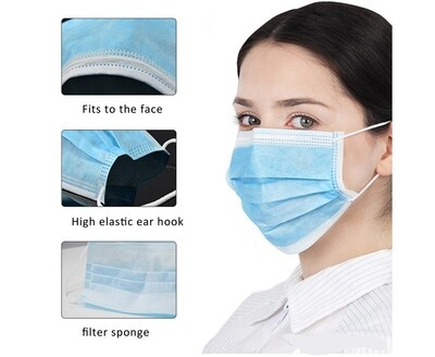 Disposable Face Masks with Three Layer Protection - Pack of 10 mask1