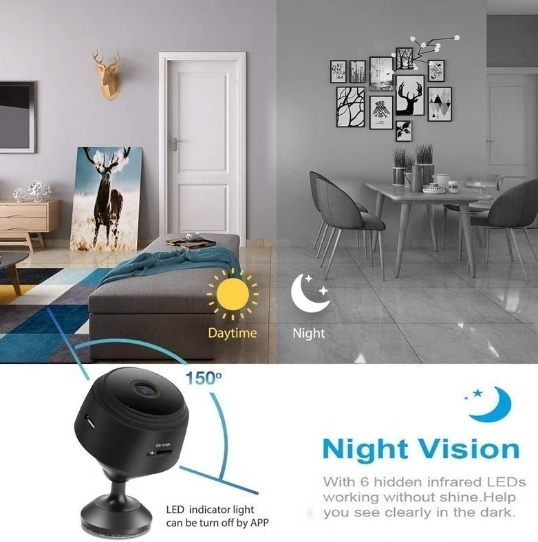 Mini Security Camera with Night Vision