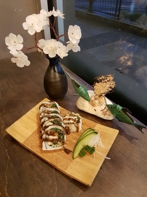 Spinach Crab Roll