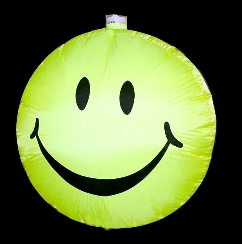 Hanging inflatable Smily Disc 3ft/91cm x 3ft/91cm