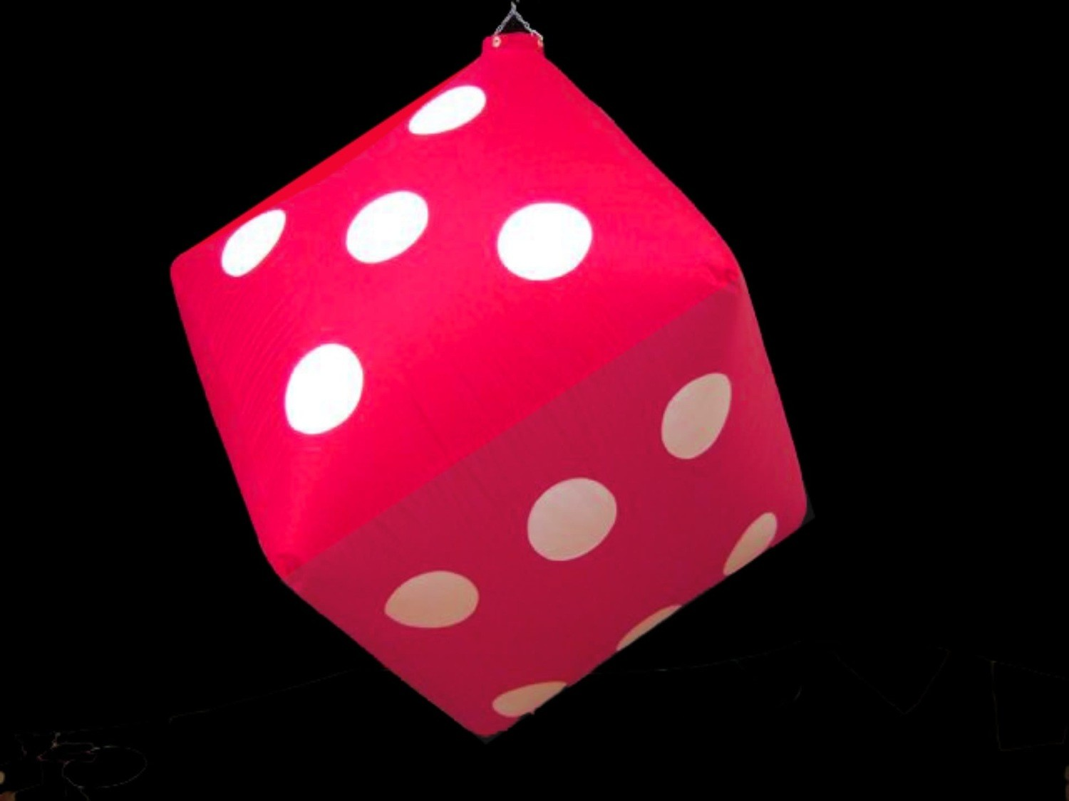 Hanging Inflatable Dice 5ft/152cm x 5ft/152cm