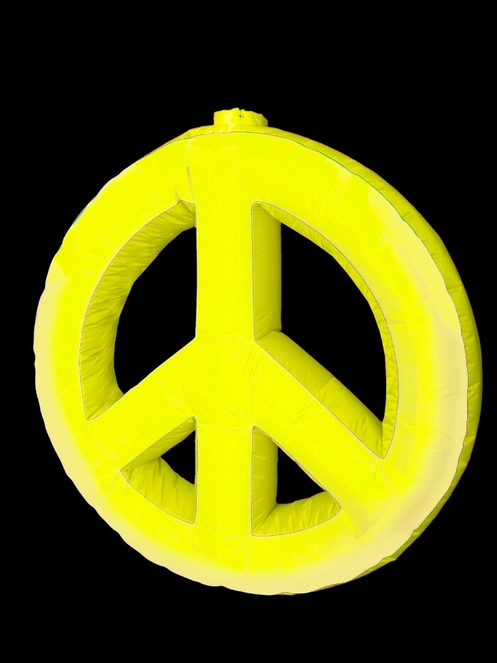 Hanging Inflatable Peace Symbol 4ft/122cm x 4ft/122cm