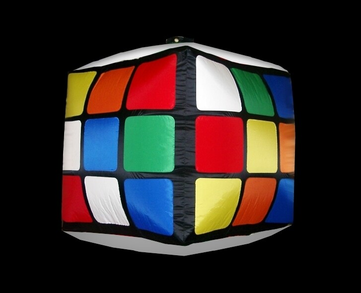 Hanging Inflatable Rubiks Cube 5ft/152cm x 5ft/152cm