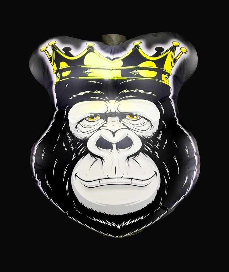 Hanging Inflatable Gorilla Head 5ft/152cm x 6ft/182cm
