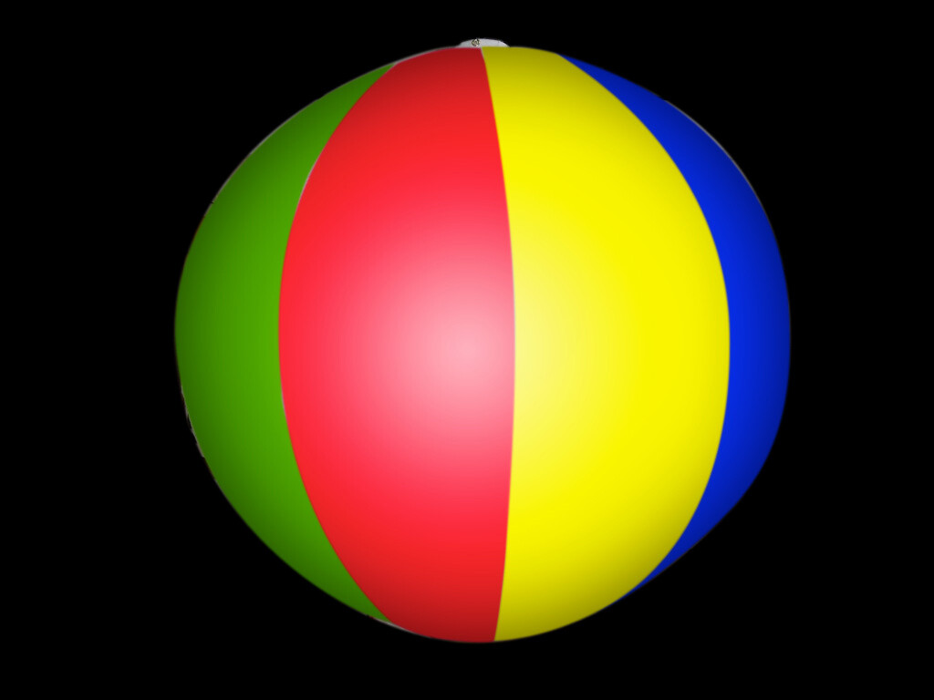 Hanging Inflatable Beach Ball Stripy Spheres 4ft/122cm diameter (8 Section)