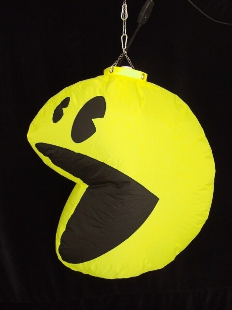 Hanging Inflatable Pac-man 4.5ft/136cm x 5ft/152cm