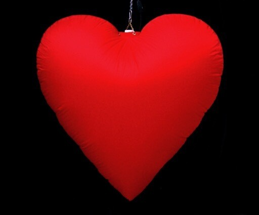 Hanging Inflatable Heart 2.5ft/75cm Height