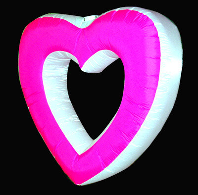 Hanging Inflatable Hollow Heart 4.5ft/136cm x 4.5ft/136cm