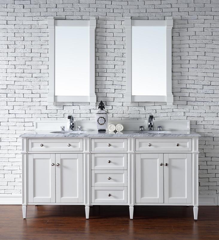 182 cm Badmöbel Landhaus Doppelwaschtisch Weiß